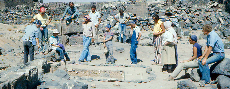 Main image: 1984 excavation team.